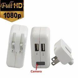 White 1080 Pixel Real AC Power Adapter Spy Hidden Camera