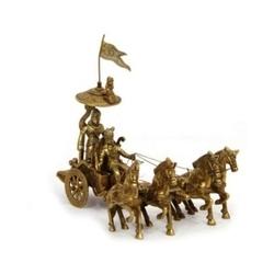 Decorative Arjun Rath With Four Horses Brass  handicrafts