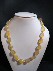 Yellow Onyx Tumble Stone Necklace