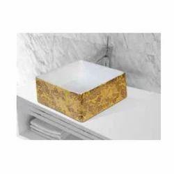 Cera mic Table Top Square Wash Basin
