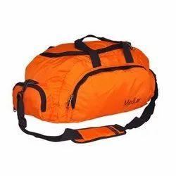 Orange Polyester Travel Duffle Bag, Packaging Type: Packet
