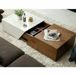 White And Brown Wooden Table