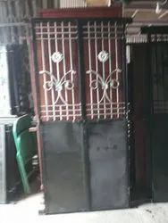 Double Door Iron Safety Doors, For Residential, Size: 3*7