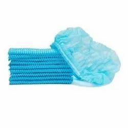 Blue Cotton Disposable Bouffant Cap