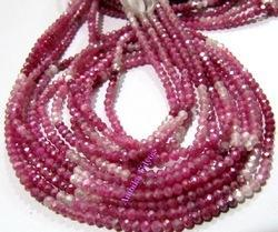 Ruby Color AB Coated Shaded Moonstone Beads