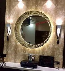 Decorative Round LED Mirror