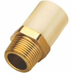CPVC Brass Hex Male Threaded Adapter