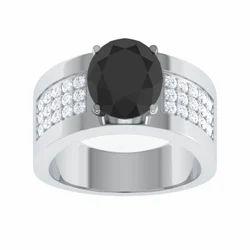 Studded Designer 925 Sterling Silver Bridal Ring For Men