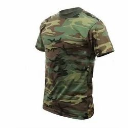 180-240  GSM Polyester Camouflage Round Neck T Shirt