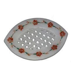 Marble Soap Dish Flower Design