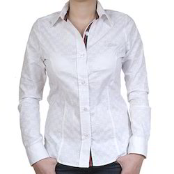 Cotton Formal Ladies Casual Shirt