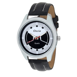 Oxcia Multi Color Dial Black Strap Analog Watch