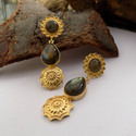 Golden Wedding And Anniversary Labradorite Earring