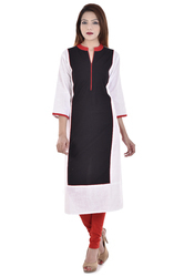 Grey Pink Ladies Kurta