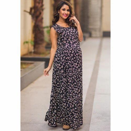 ca504a0c3b6e3 Floral Black Maternity Maxi Dress at Rs 2399 /piece | Maternity ...