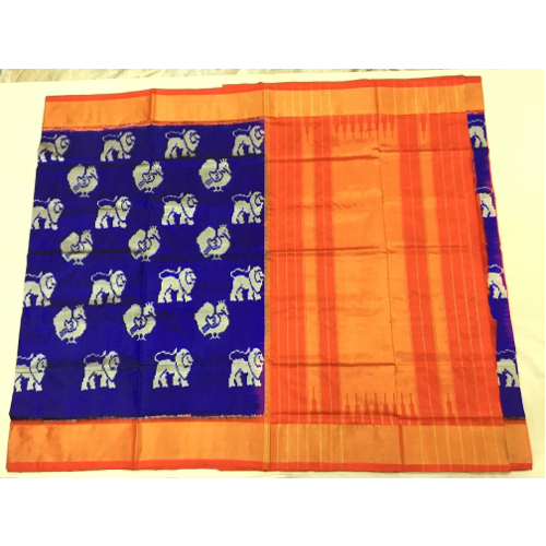 Pochampally Pure Ikkat Silk Sarees, Machine, 6.3 m (with blouse piece)