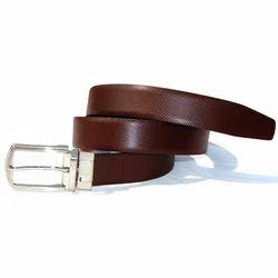Genuine Leather Brown Mens Formal Belt