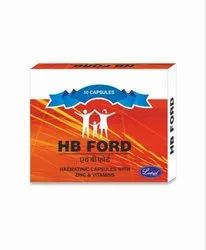 Zinc And Vitamins HB Ford Capsule, Packaging Size: 10 X 1, Packaging Type: Box
