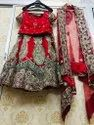 Embroidered Red Bridal Lehenga