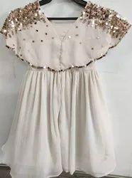 Girls Chiffon Hand Sequined Dress