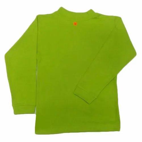 Men Casual Wear Green Round Neck T-Shirt