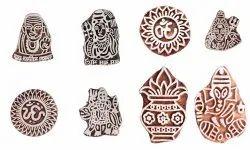 Handmade Religious Wood Block Printing Stamp