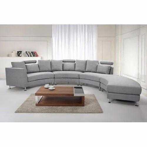 Grey Rexine Semi Circle Sofa Rs 35000