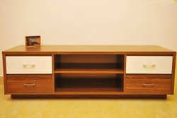 Brown Wooden Modern TV Table for Home