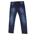 Blue Casual Washed Jeans