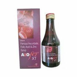 Ferrous Ascorbate Folic Acid and Zinc Syrup, Packaging Size: 200 mL