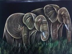 Painting - Two Elephant