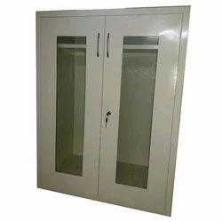 2 Door Designer Steel Glass Almirah