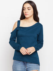 Ladies One Side Shoulder Cotton T-Shirt