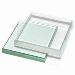 """Clear Glass Simple Rectangle Soap Dish 5/"""" Length"""