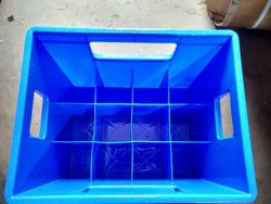 Rectangular Solid Box Plastic Bottle Crates, For Storage