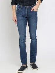 Faded Regular Mens Denim Jeans, Zip, Size: 30 32 34