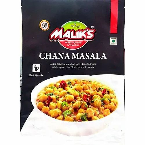 Malik Chana Masala Powder, Packaging Type: Packets, Features: Pure And Natural