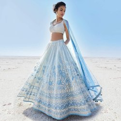 Wedding Wear Net Fabric Heavy Embroideries Worked Bridal Lehengha Choli
