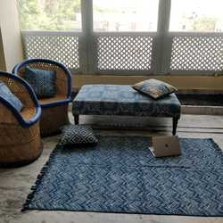 Hand Block Dabu Printed Best Rugs in Jaipur