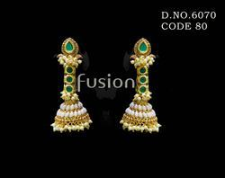 Traditional Antique Pearl Hanging Earrings