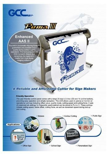 sílaba comedia Por qué no  Plotter P3 60 2 Ft GCC Puma III, Plotter Cutting Machine, Plotter Cutting  Machinery, कटिंग प्लॉटर in Andheri East, Mumbai , Vinod Medical Systems  Private Limited | ID: 19505635962