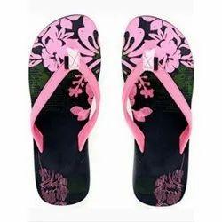Daily wear Ladies PU Printed Slipper, Packaging Type: Packet