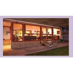 Gold/ Brown /White Modern Timber Window