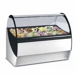 Automatic Stainless Steel Ice Cream Display Counter, Electric