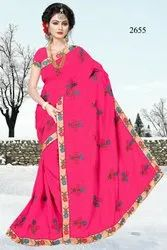 Fancy Embroidery & Party Wear Saree