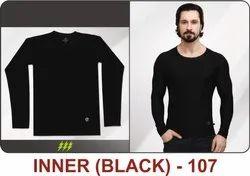 Inner Black Polyester T-Shirts