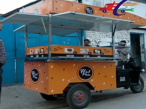 Yellow Food Cart On E-Rickshaw