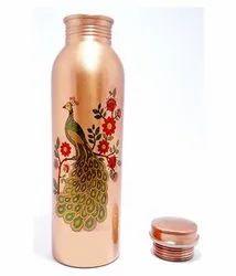Peacock Copper Water Bottle 900 ML
