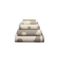 San Fibre Printed Jacquard Towel Bath- Set, Size: Standard