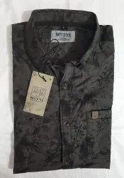 Cotton Collar Neck Mufti Mens Designer Shirt